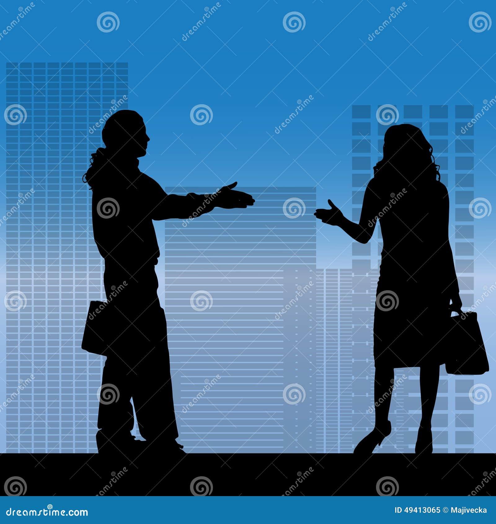 Download Vektorschattenbild Von Geschäftsleute Vektor Abbildung - Illustration von frau, hände: 49413065