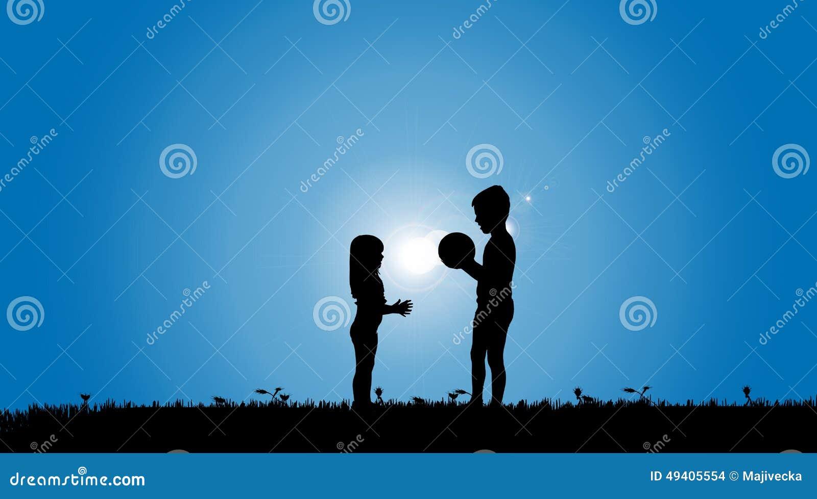 Download Vektorschattenbild Von Geschwister Vektor Abbildung - Illustration von familie, lebensstil: 49405554