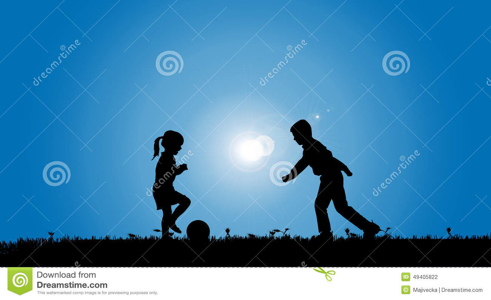 Download Vektorschattenbild Von Geschwister Vektor Abbildung - Illustration von kinder, blau: 49405822