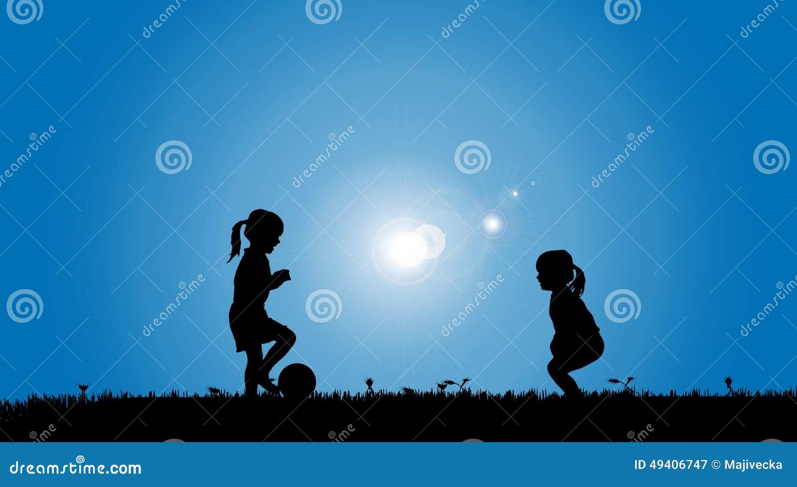 Download Vektorschattenbild Von Geschwister Vektor Abbildung - Illustration von fußball, nave: 49406747