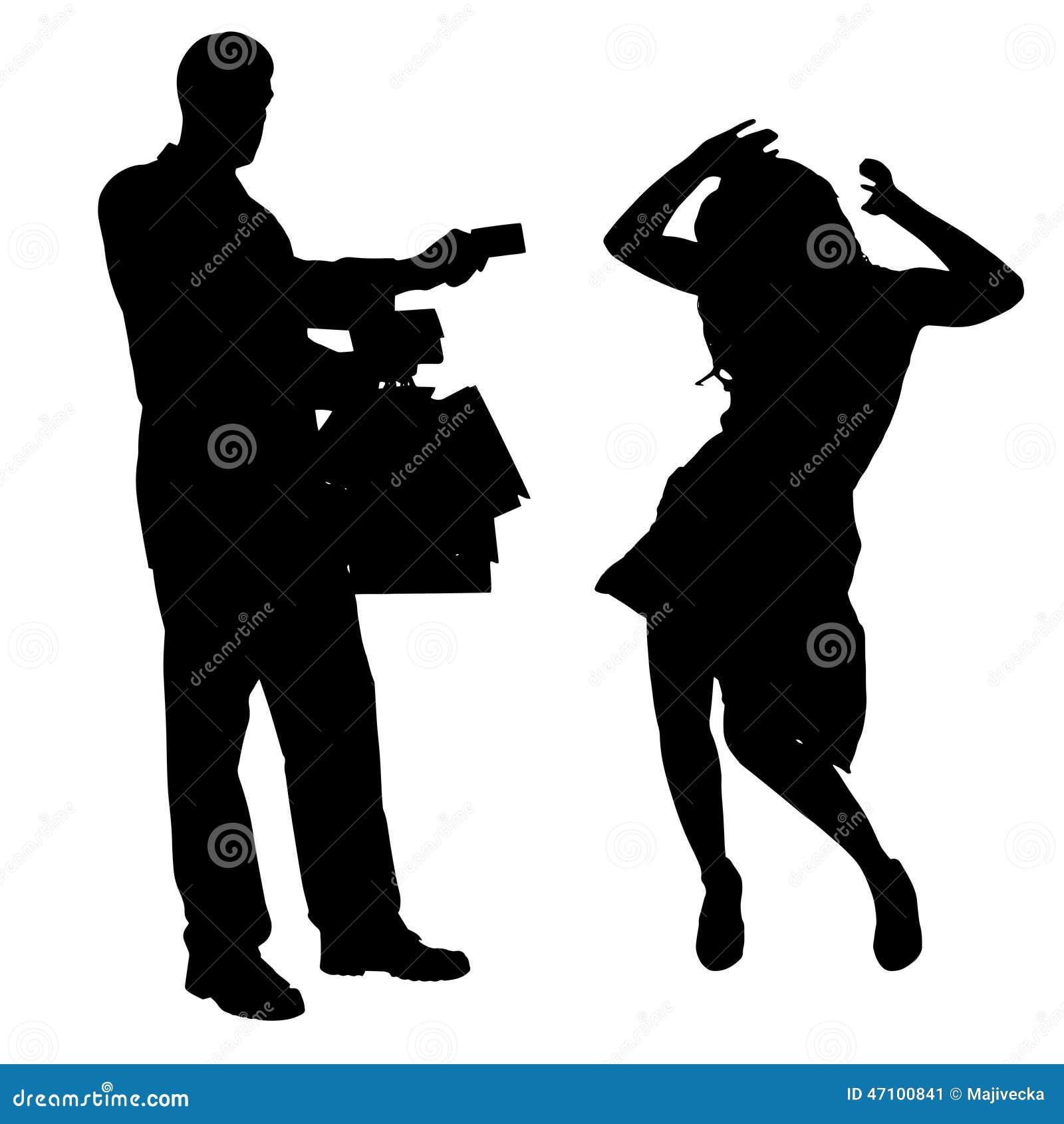 Vektorschattenbild von Paaren