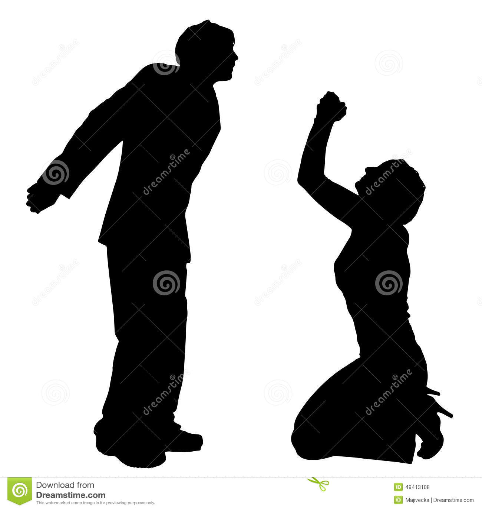 Download Vektorschattenbild Von Paaren Vektor Abbildung - Illustration von mädchen, junge: 49413108