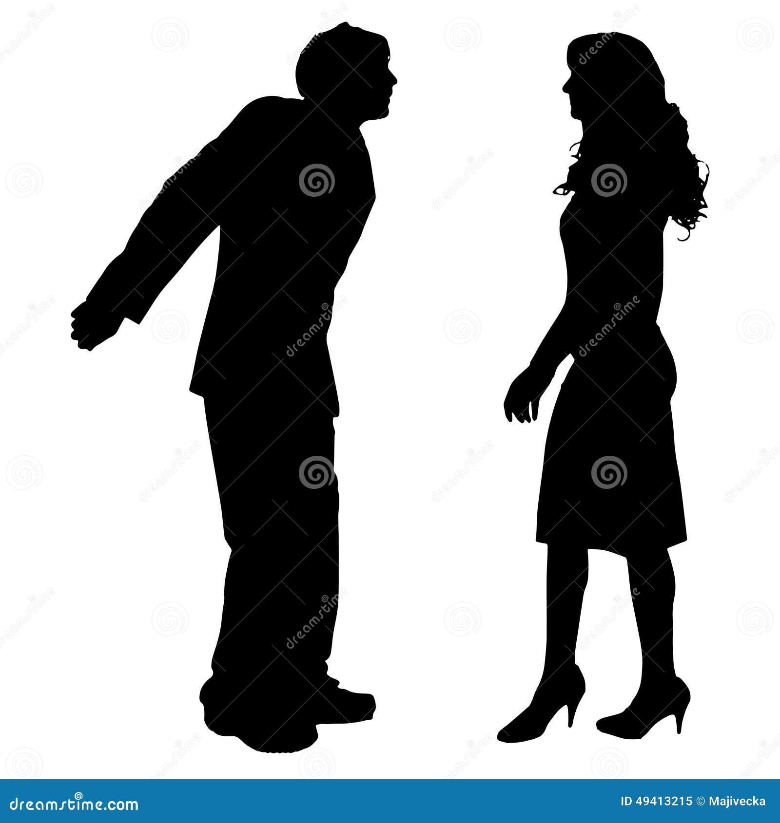 Download Vektorschattenbild Von Paaren Vektor Abbildung - Illustration von getrennt, weiß: 49413215