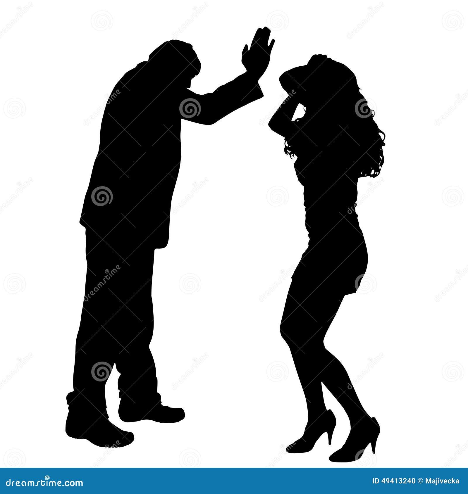 Download Vektorschattenbild Von Paaren Vektor Abbildung - Illustration von verärgert, argue: 49413240
