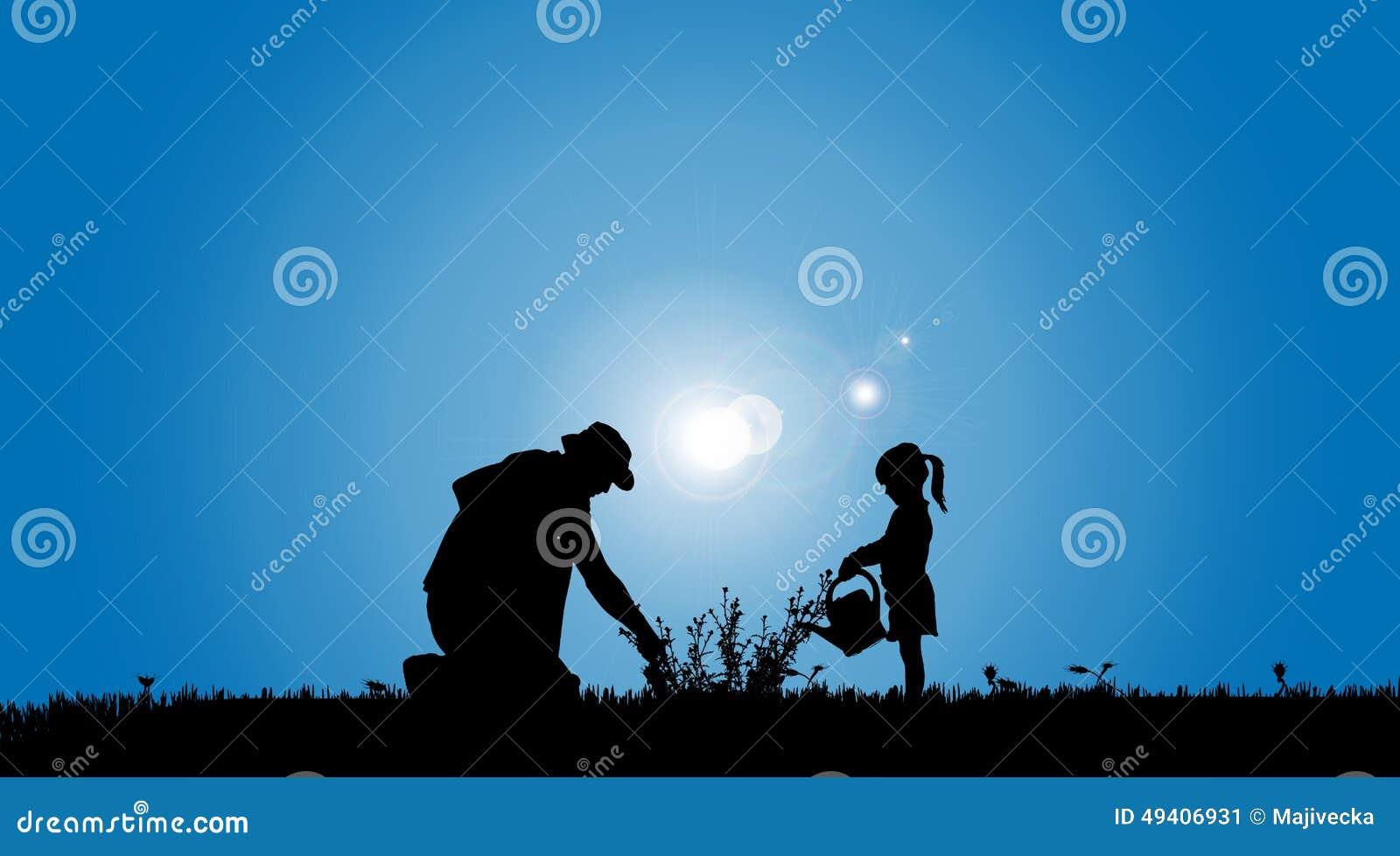Download Vektorschattenbilder Der Familie Vektor Abbildung - Illustration von krug, schwarzes: 49406931