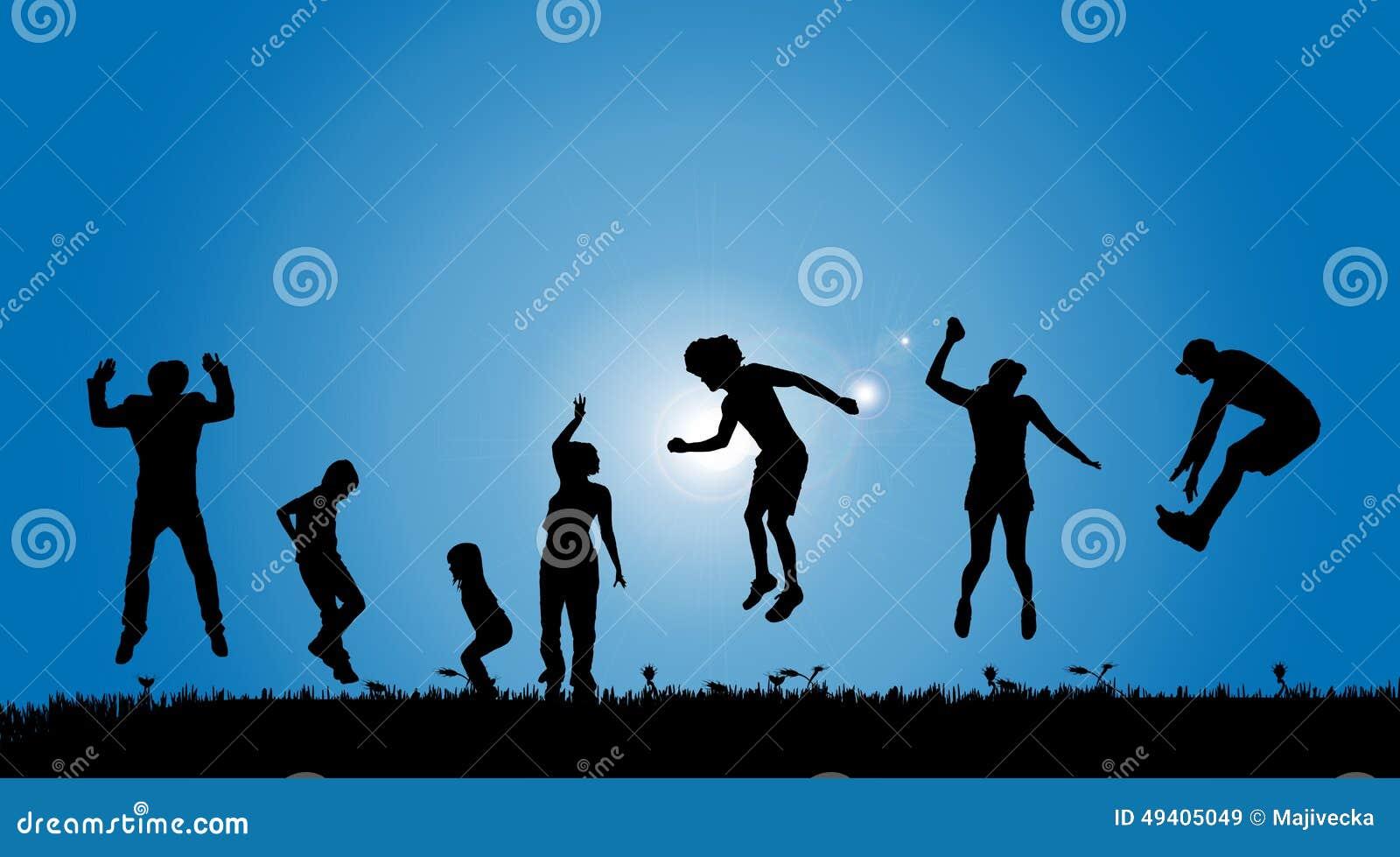 Download Vektorschattenbilder Von Leuten Vektor Abbildung - Illustration von kind, frau: 49405049
