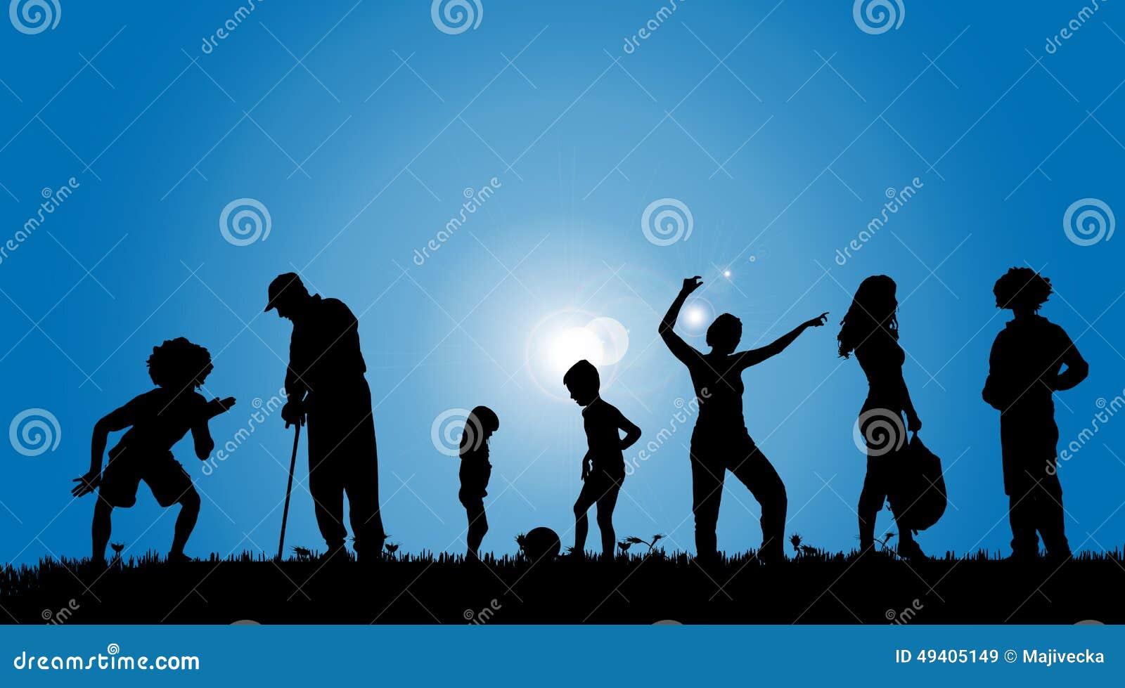 Download Vektorschattenbilder Von Leuten Vektor Abbildung - Illustration von vater, junge: 49405149