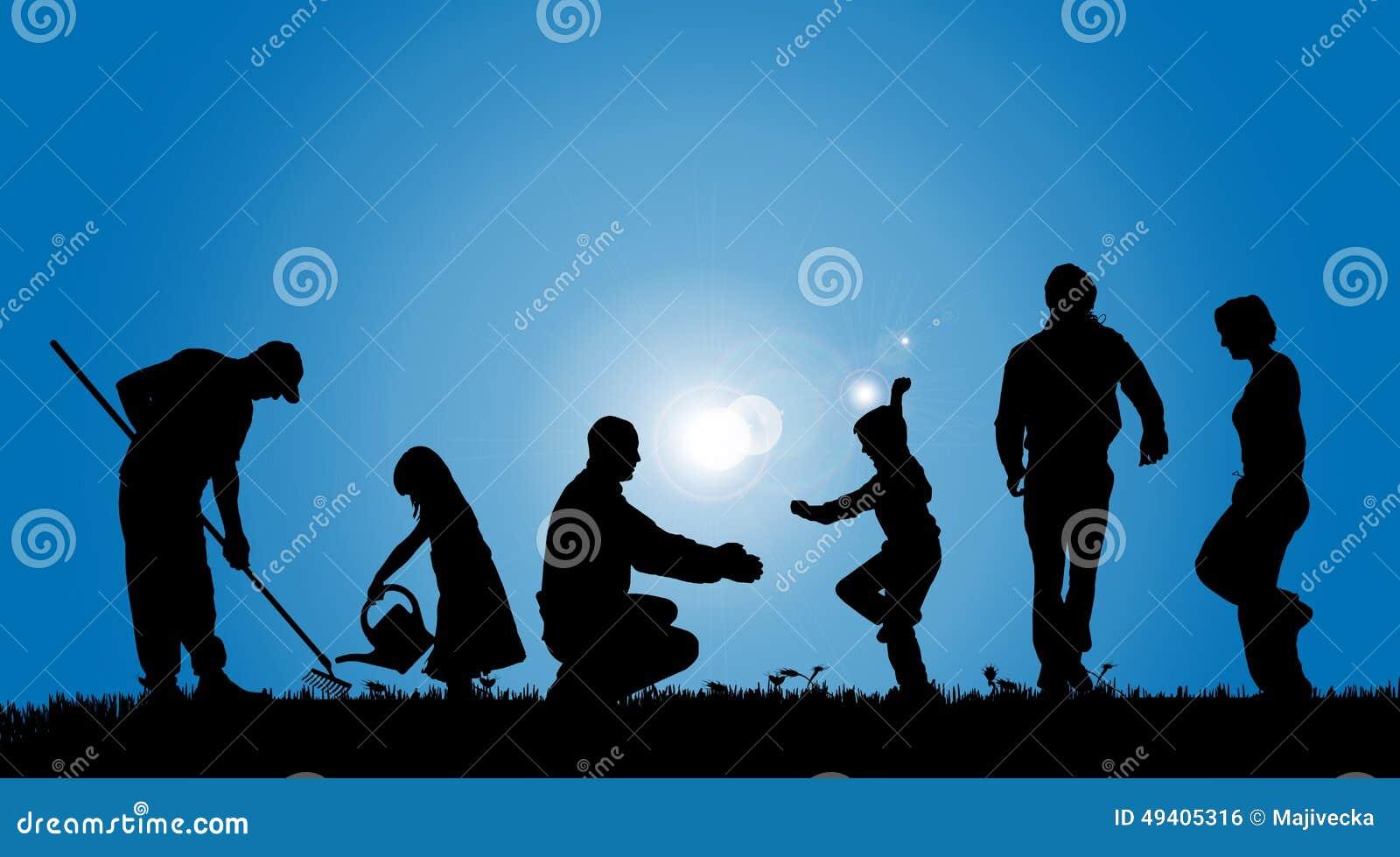 Download Vektorschattenbilder Von Leuten Vektor Abbildung - Illustration von mann, erzeugung: 49405316
