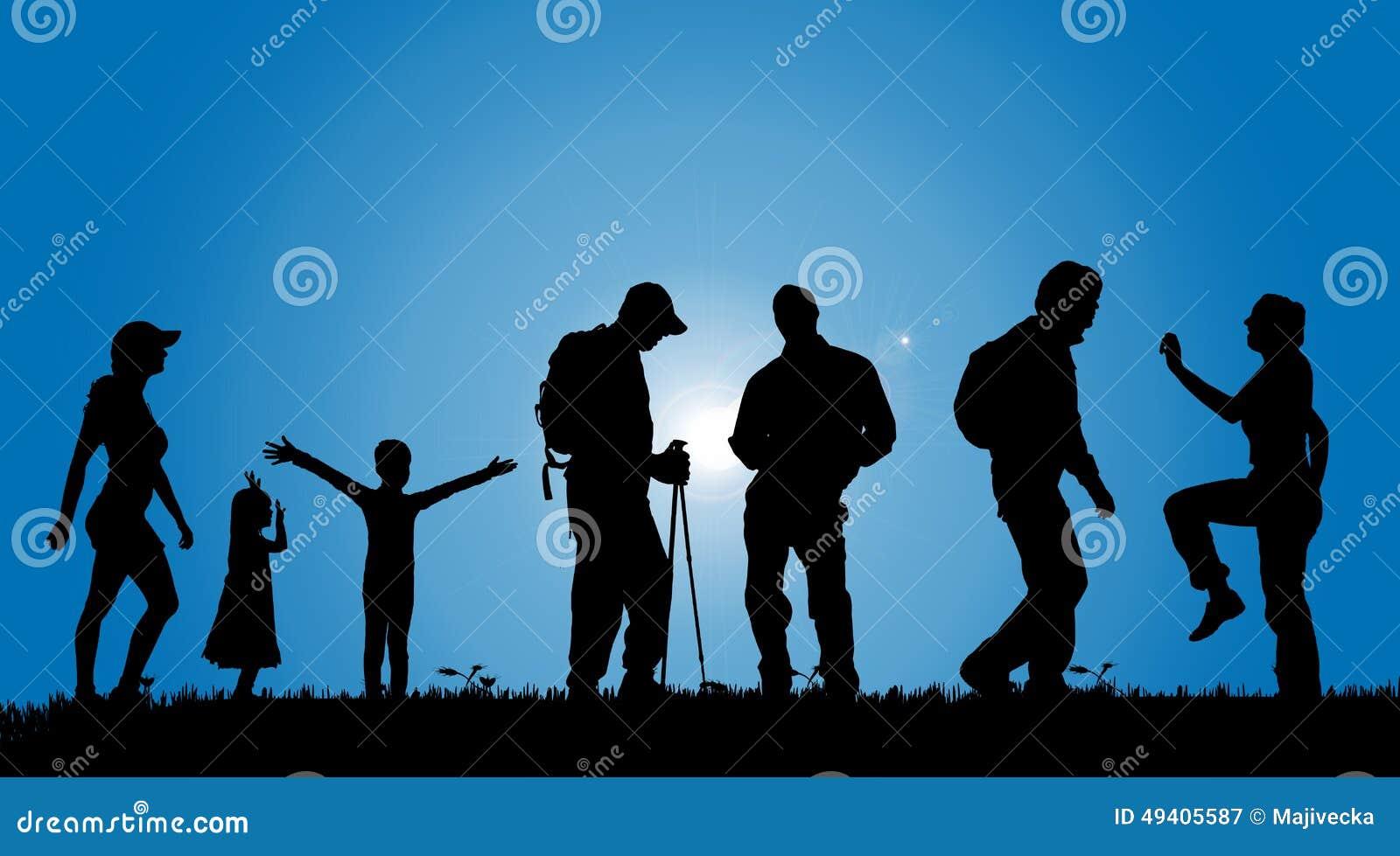 Download Vektorschattenbilder Von Leuten Vektor Abbildung - Illustration von gras, liebe: 49405587