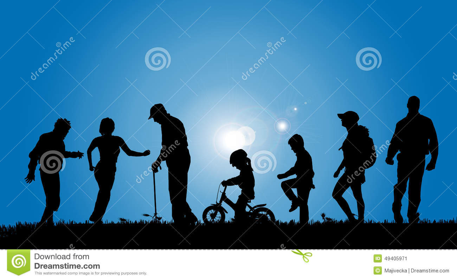 Download Vektorschattenbilder Von Leuten Vektor Abbildung - Illustration von konzept, radfahren: 49405971