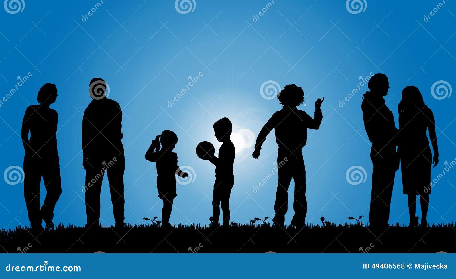Download Vektorschattenbilder Von Leuten Vektor Abbildung - Illustration von aktiv, lebensstil: 49406568
