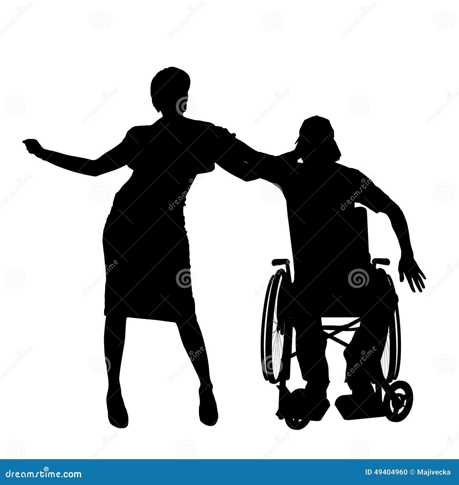 Download Vektorschattenbilder Von Paaren Vektor Abbildung - Illustration von handikap, frau: 49404960