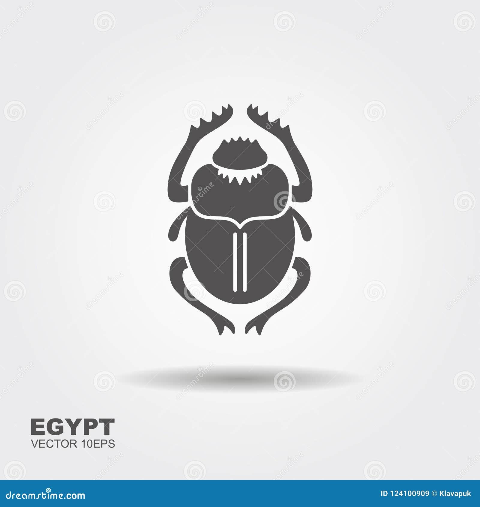 Vektorskarabé forntida egypt Plan symbol