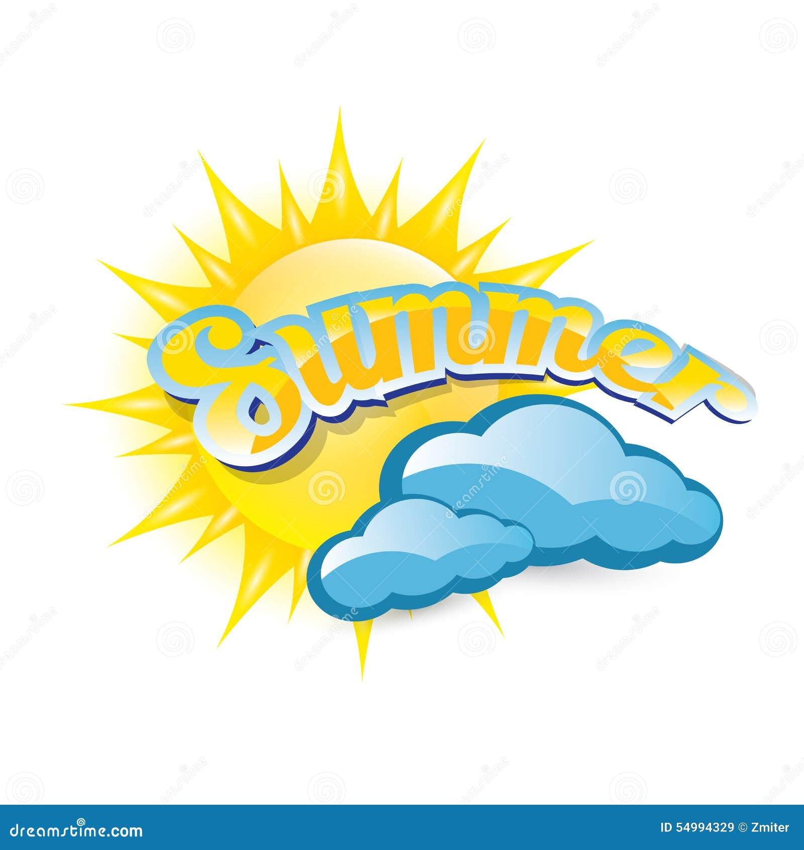 Vektorsommaretikett sommarsymbol med solen