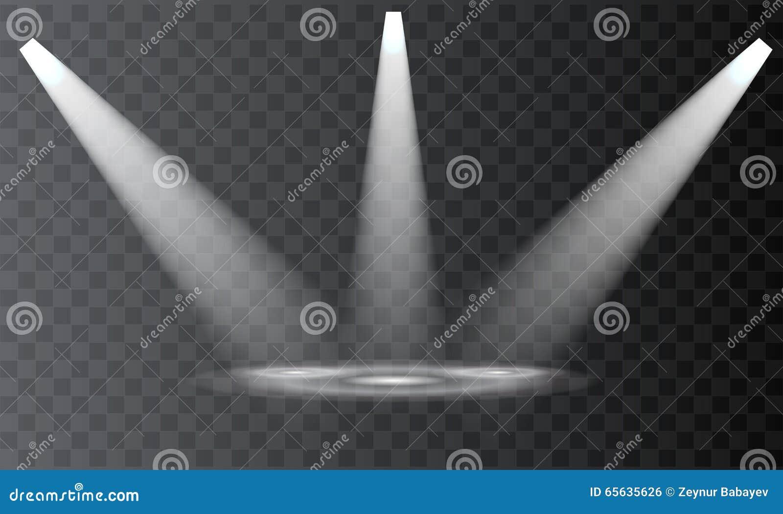 Vektorstrålkastare plats Ljusa effekter för stråle