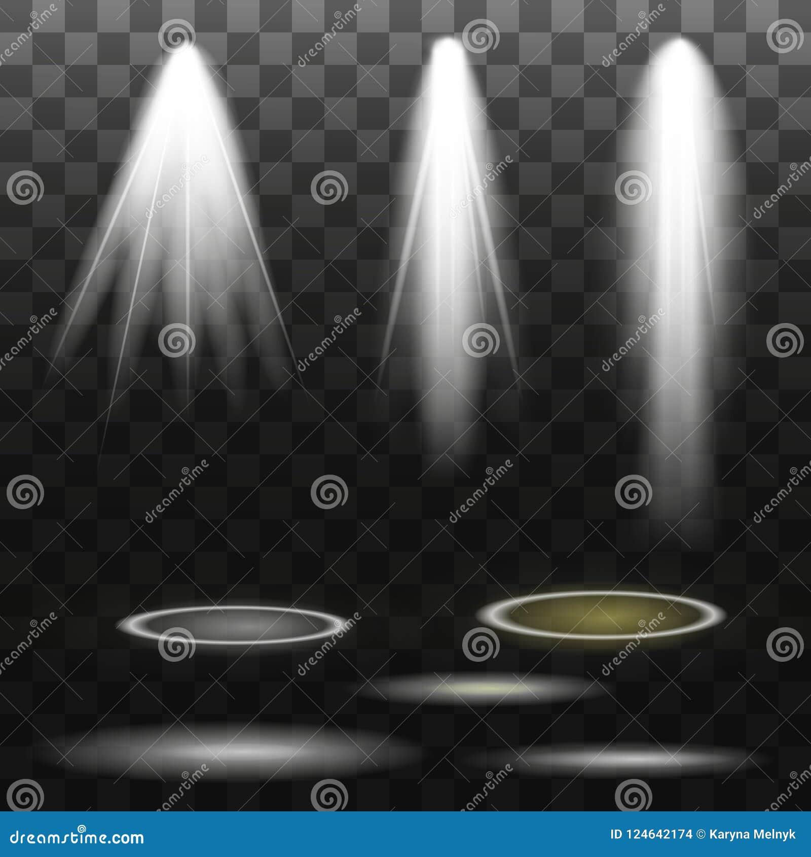 Vektorstrålkastare plats stor ljus deltagarekapacitet för effekter