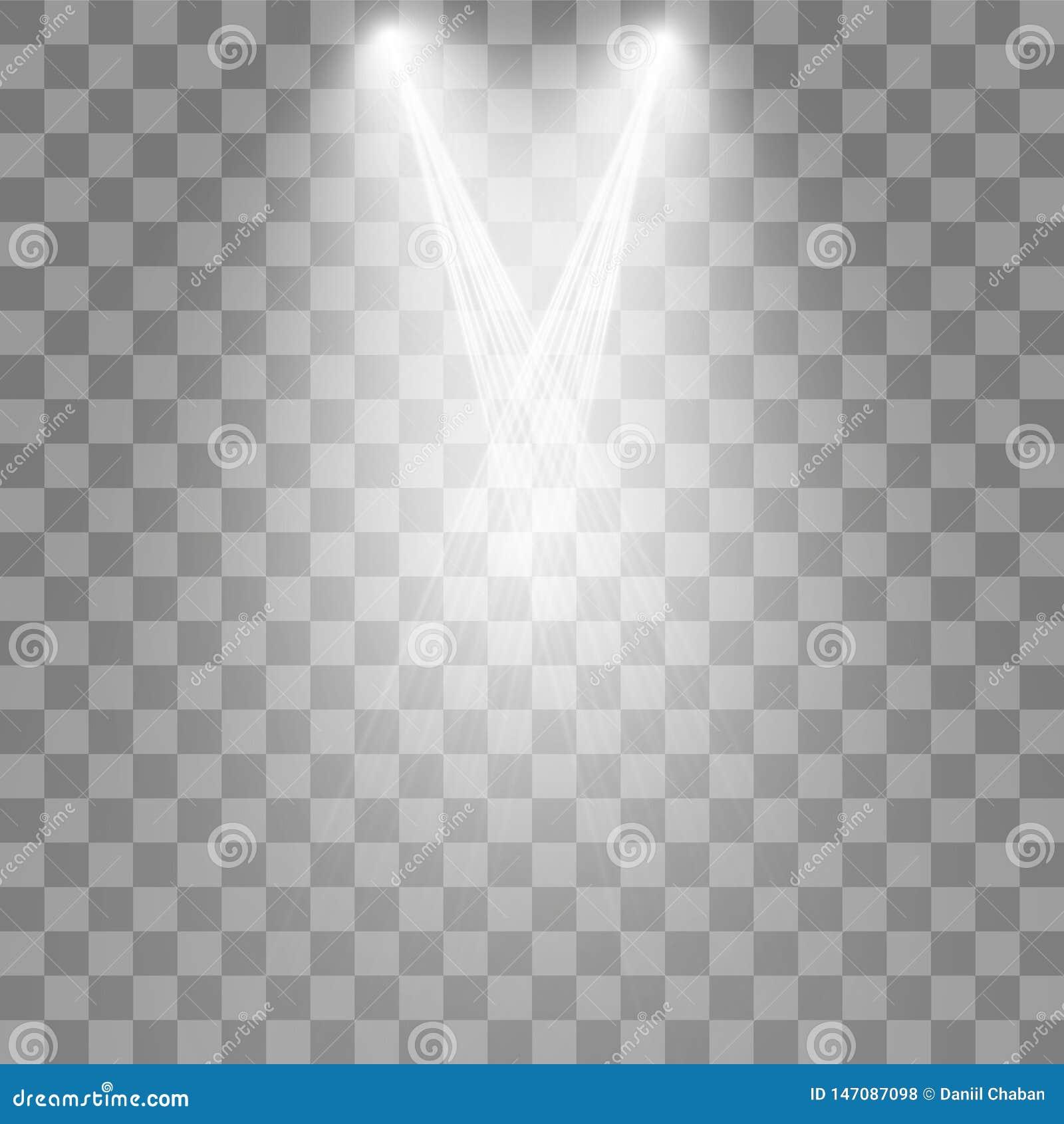 Vektorstr?lkastare plats stor ljus deltagarekapacitet f?r effekter