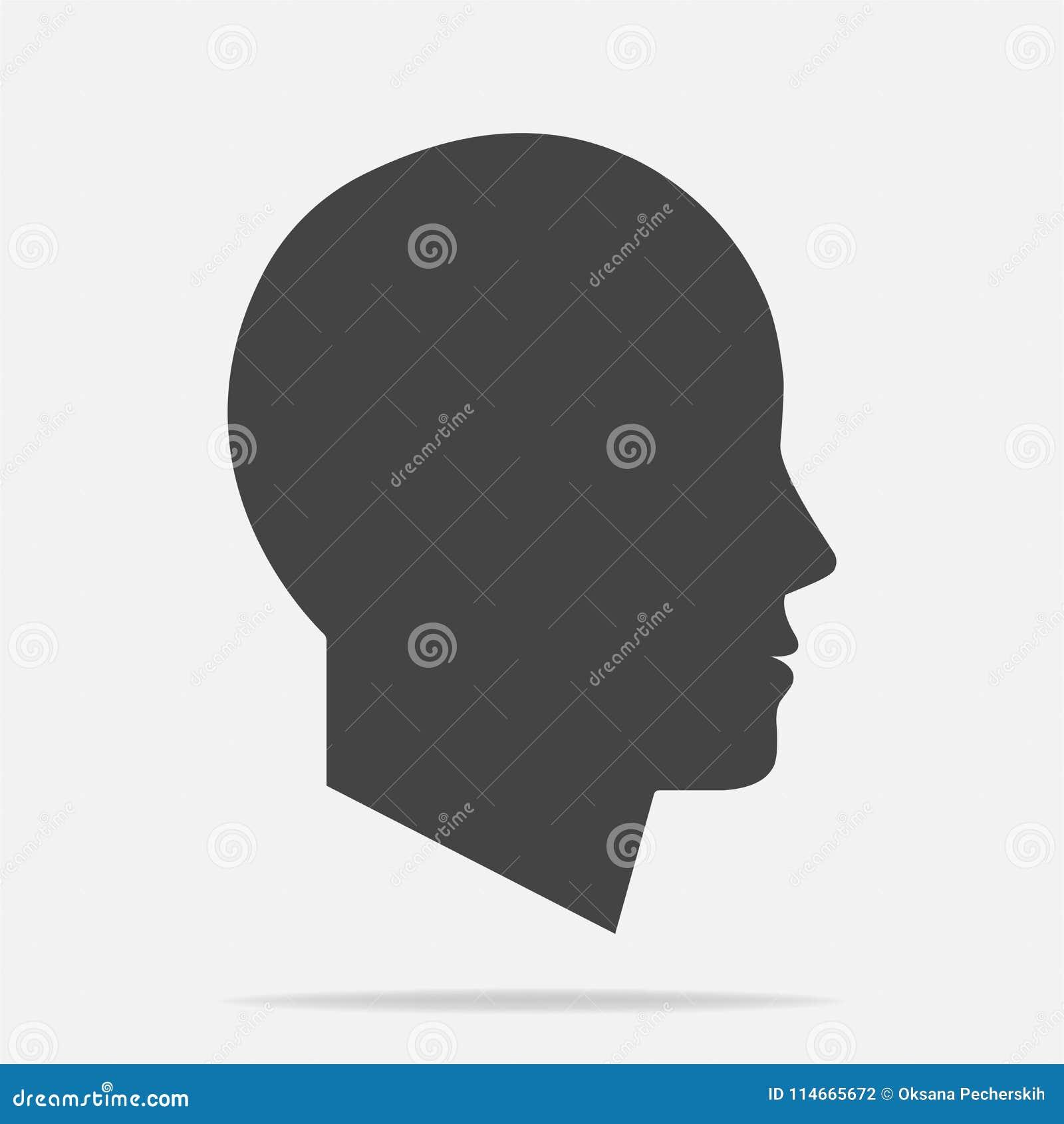 Vektorsymbol av en mans huvud Illustration av ett man- eller kvinnahuvud