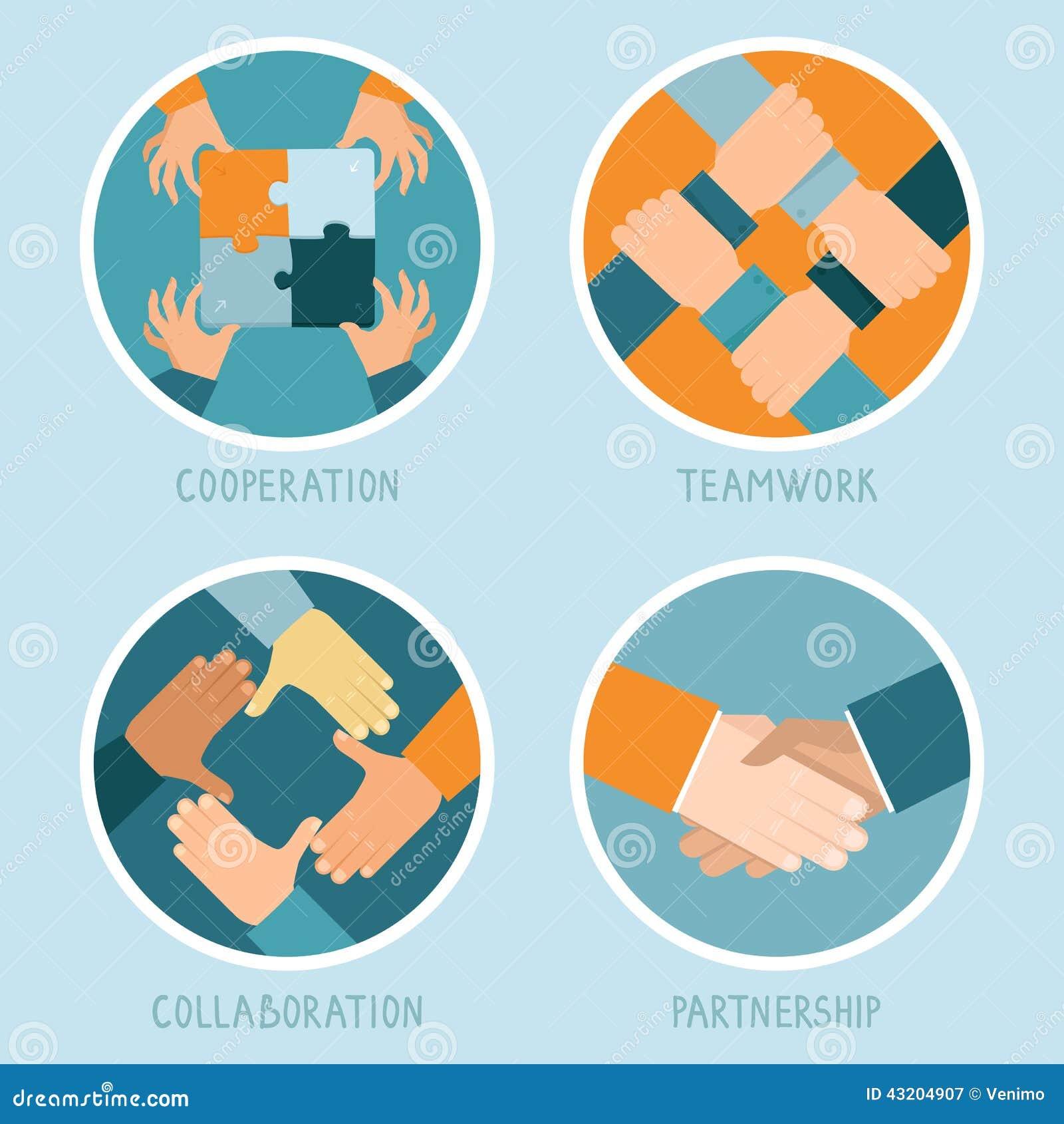 Download Vektorteamwork- Och Samarbetsbegrepp Vektor Illustrationer - Illustration av företags, mänskligt: 43204907