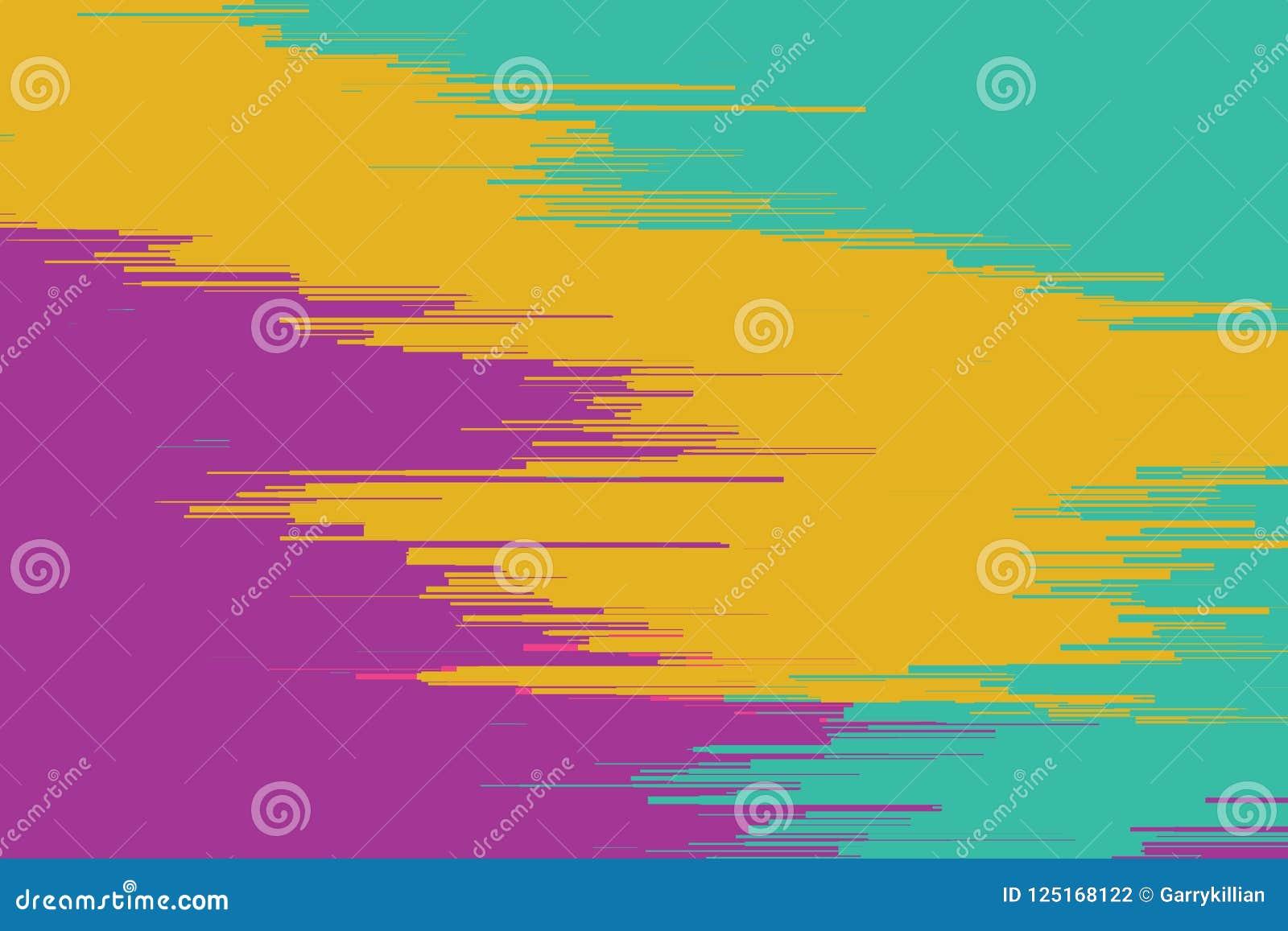 Vektortekniskt felbakgrund Distorsion för data för Digital bild Färgrik abstrakt bakgrund för dina designer Kaosestetik