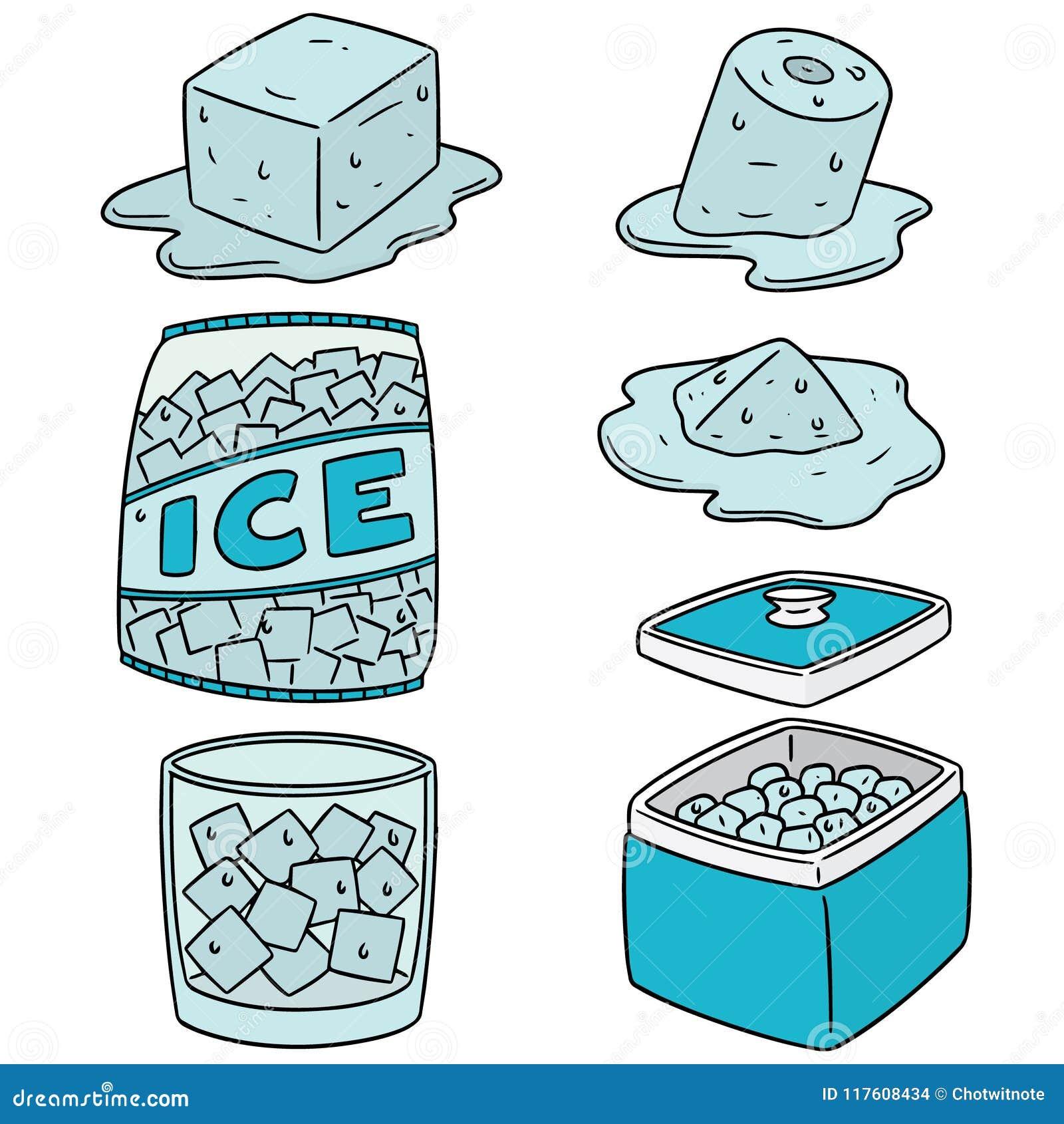 Vektoruppsättning av is