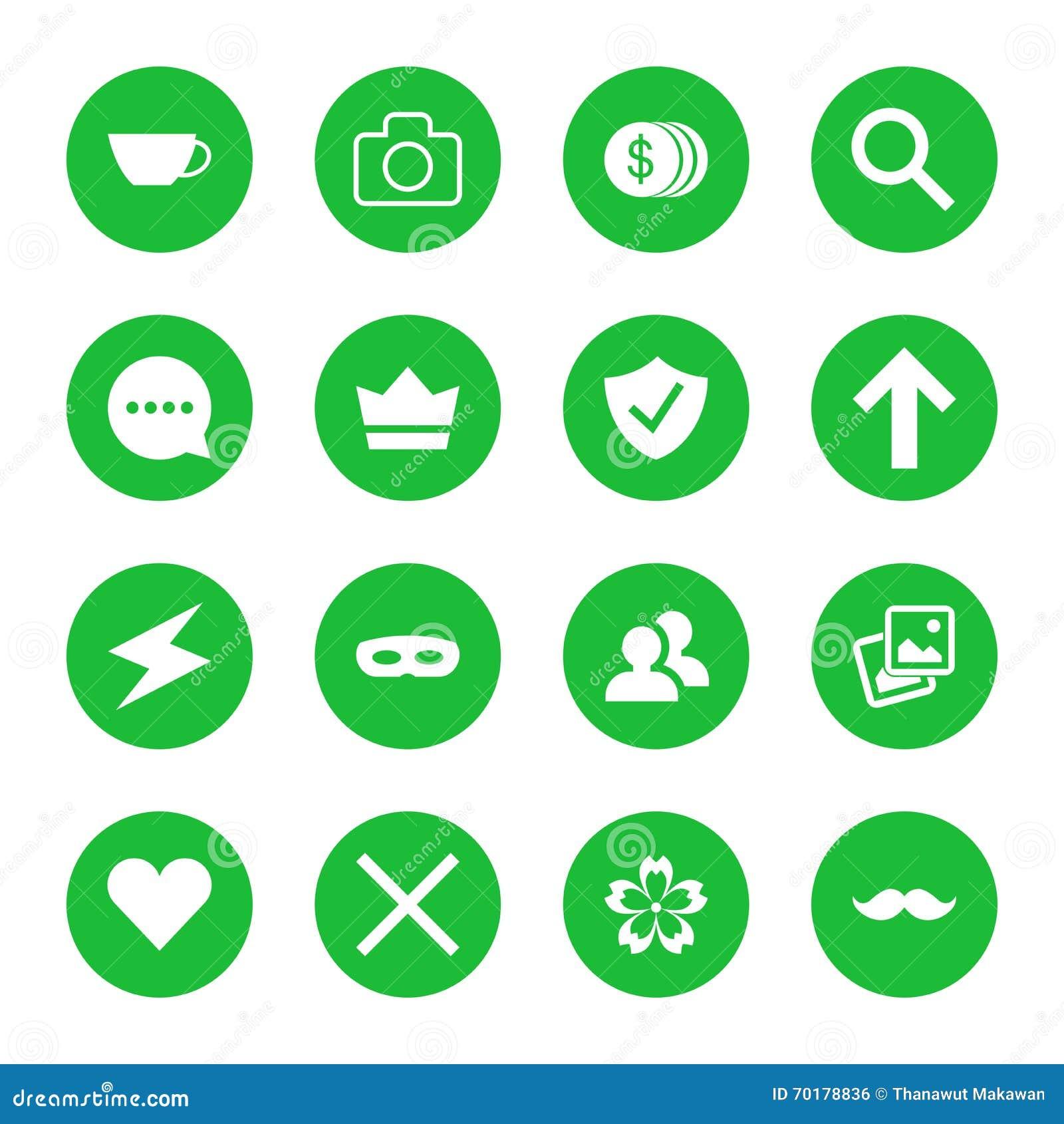 Vektoruppsättning av plana rengöringsduksymboler