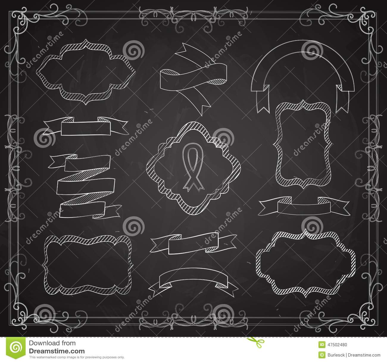 Vektoruppsättning av svart tavlabaner