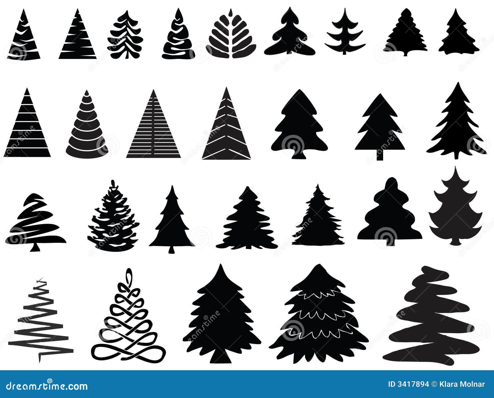 Vektorweihnachtsbäume