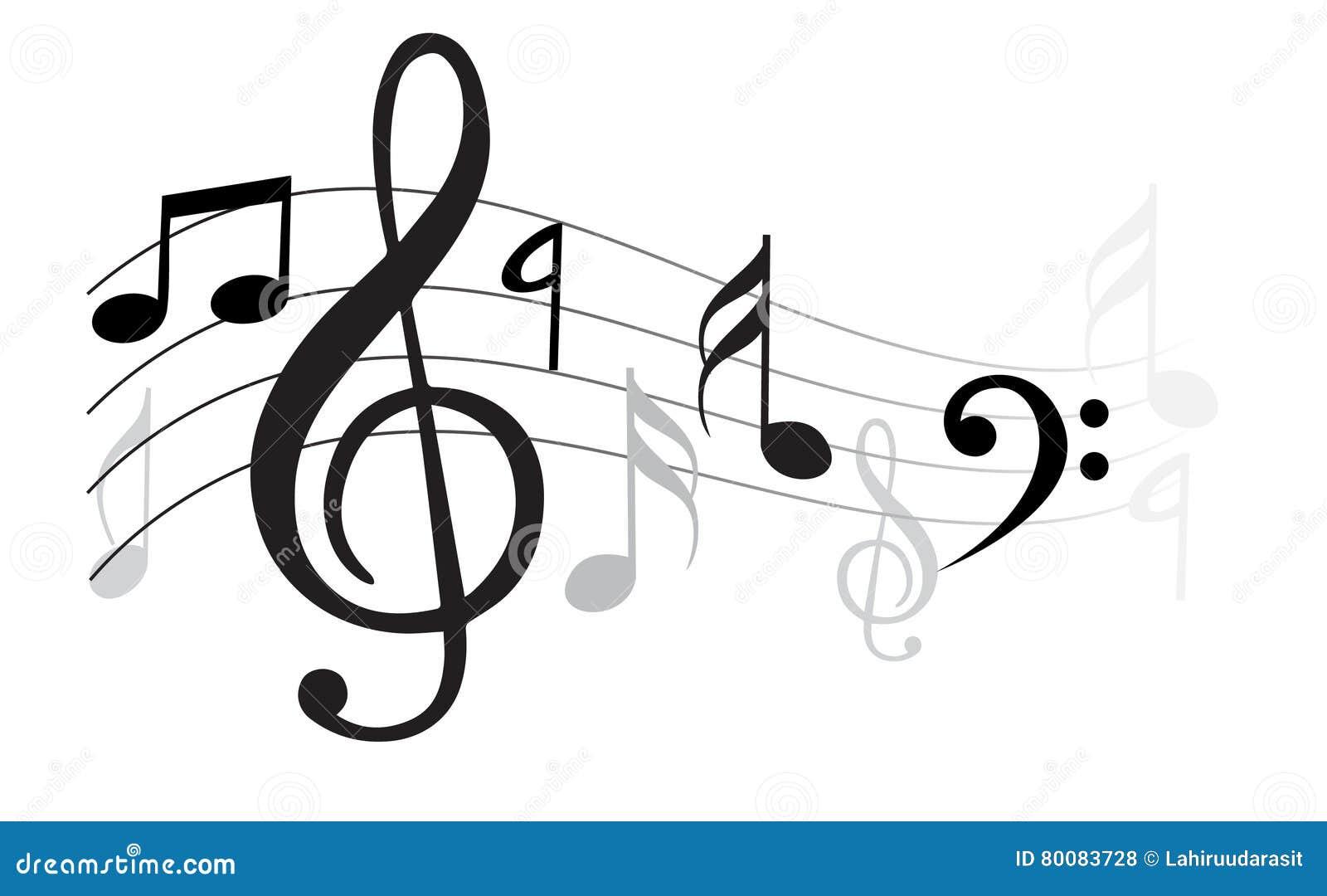 Vektorwelle der Anmerkung der klassischen Musik