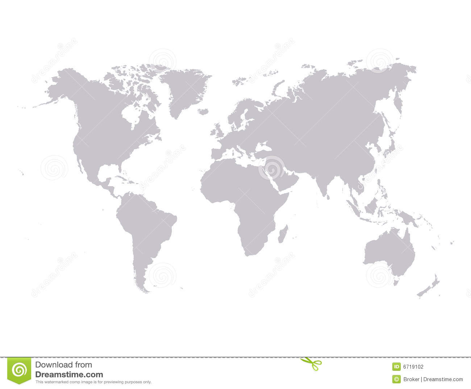 Vektorweltkarte