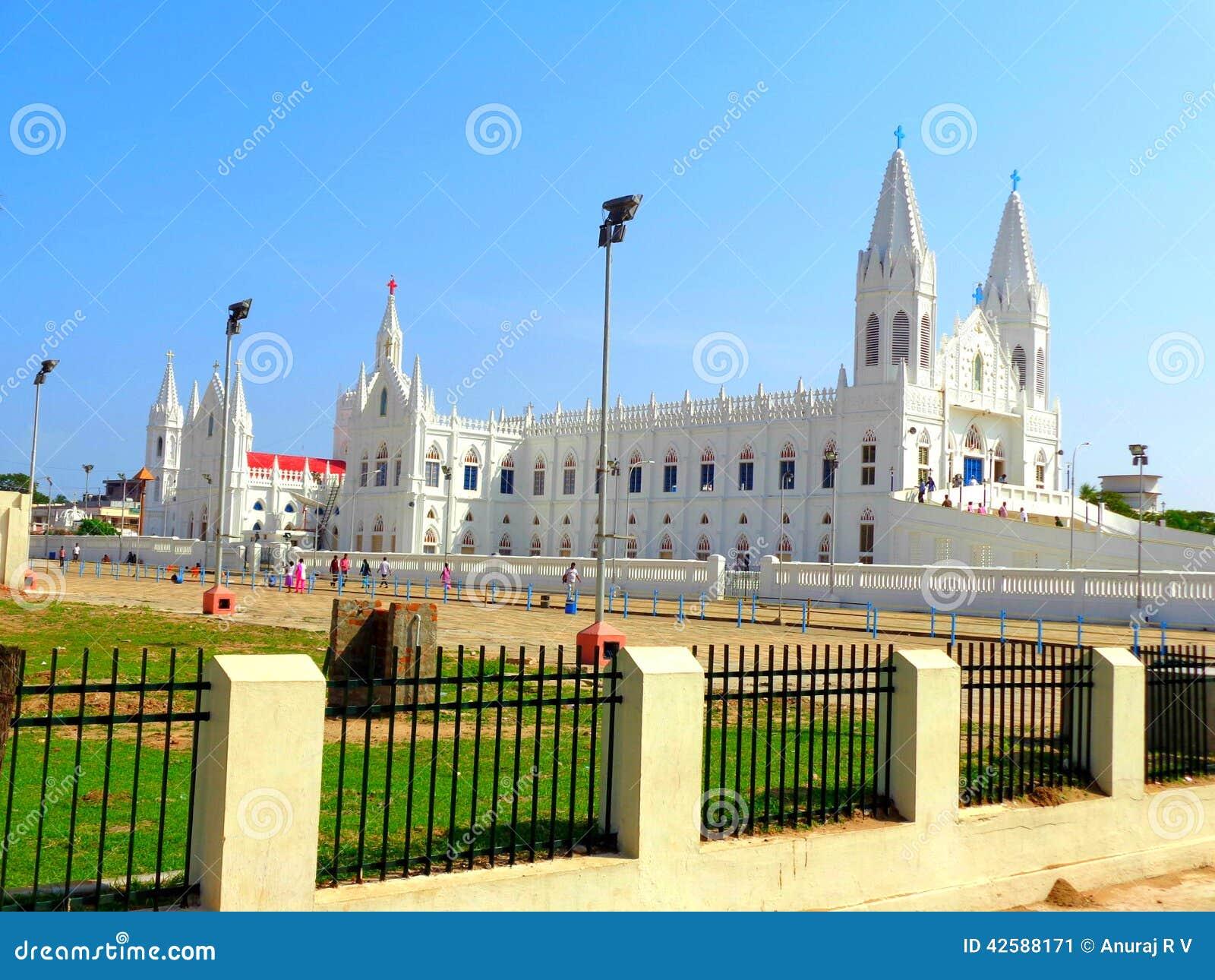velankanni matha church located in tamil nadu stock image image of