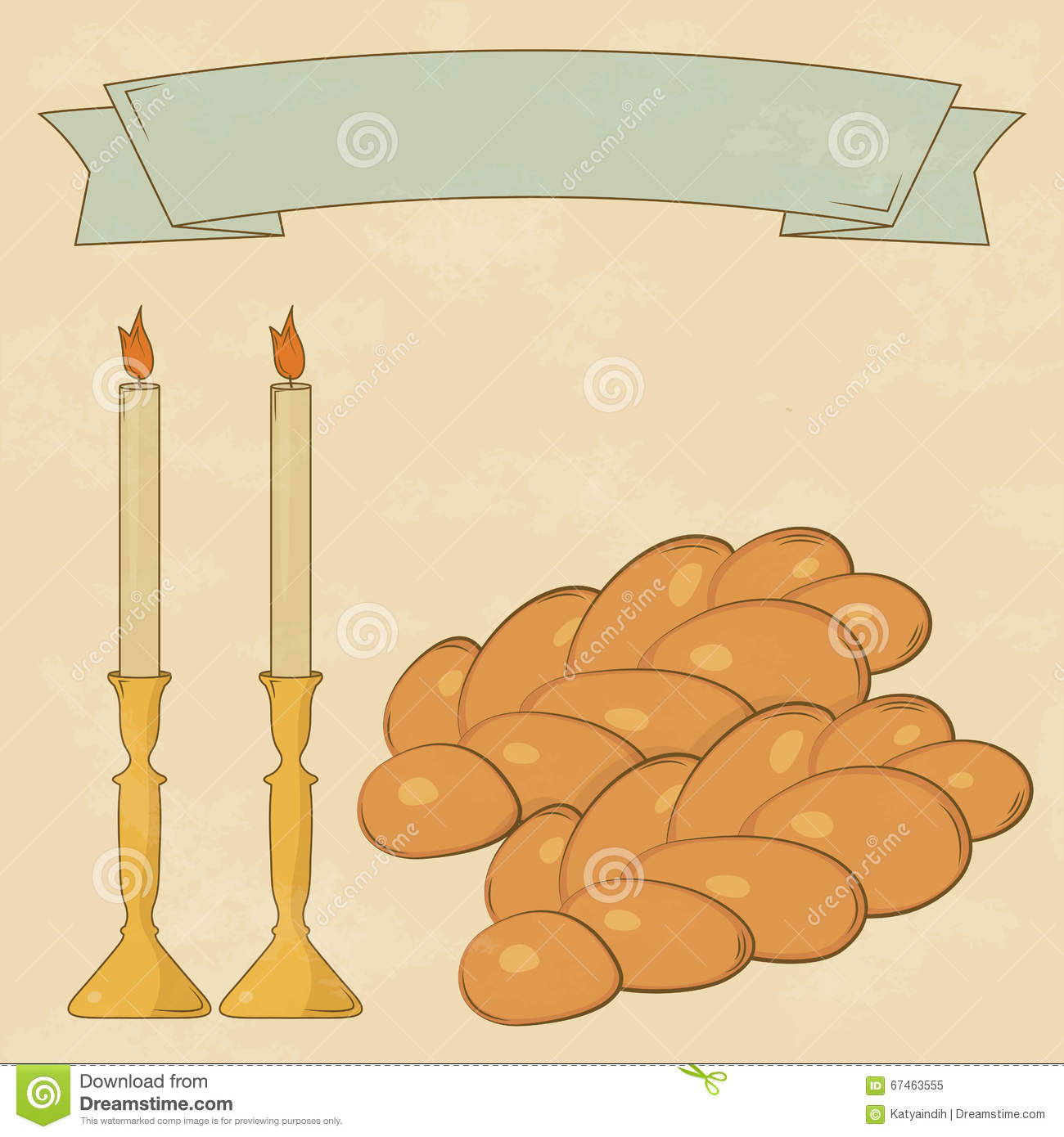 Velas de Shabbat, copo do kiddush e Chalá