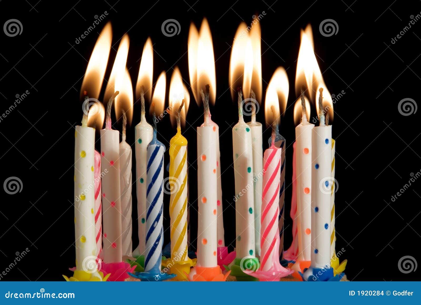 Velas do bolo de aniversário