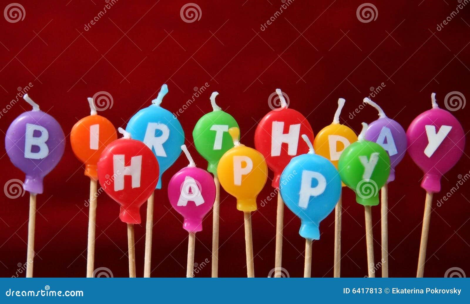 Velas do feliz aniversario