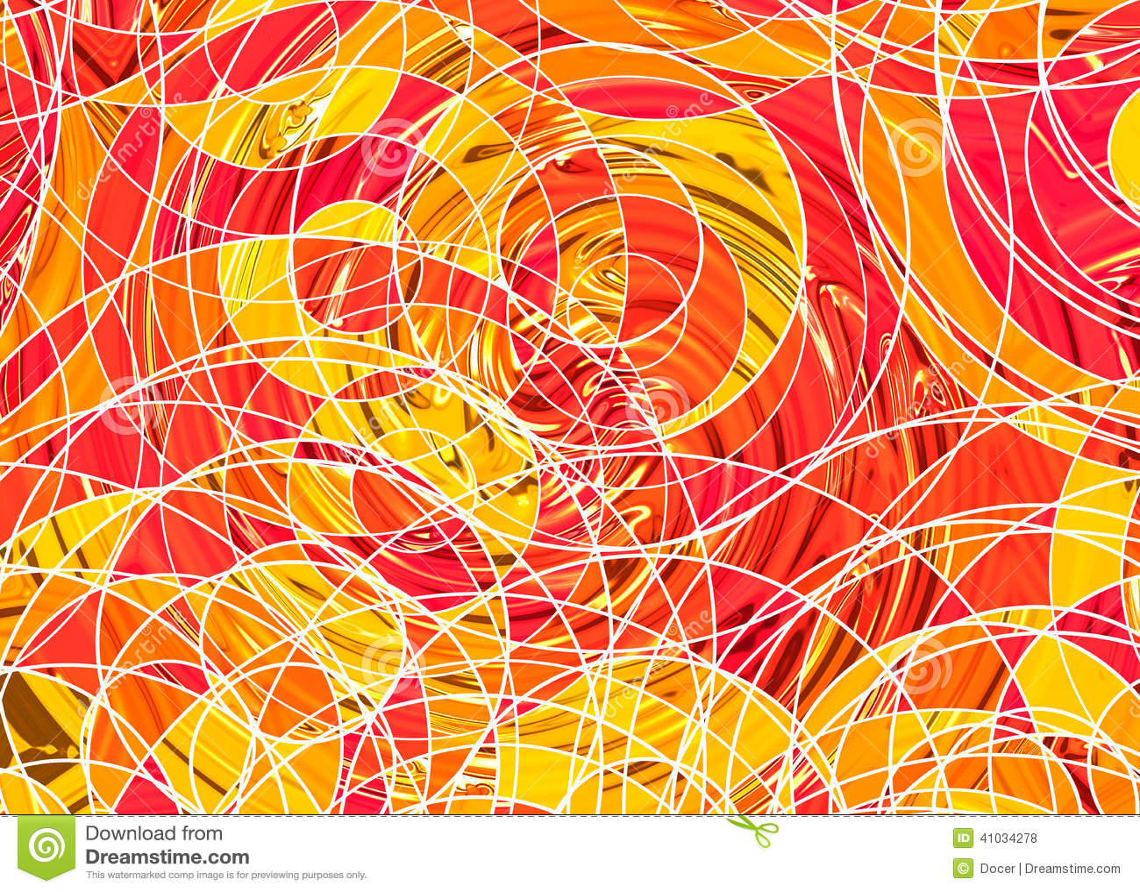 Vele abstracte gekrulde lijnen op witte achtergronden