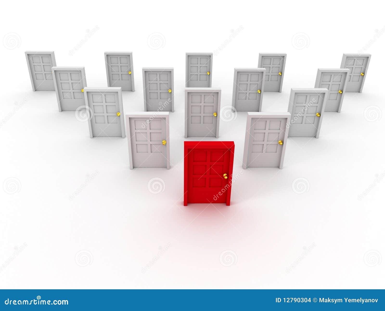 Vele deuren stock afbeeldingen afbeelding 12790304 - Idee gang ingang ...