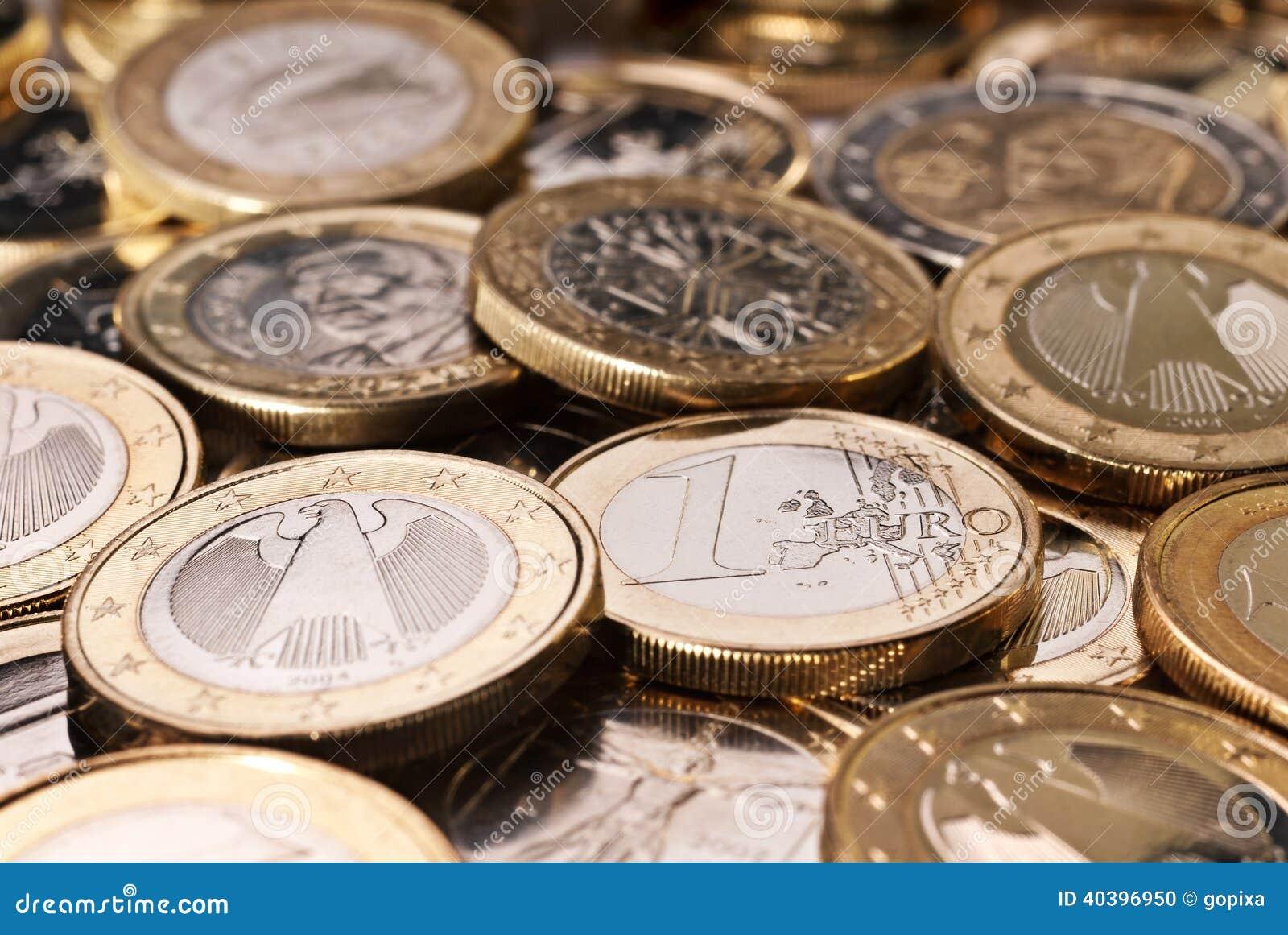 Vele Euro muntstukken