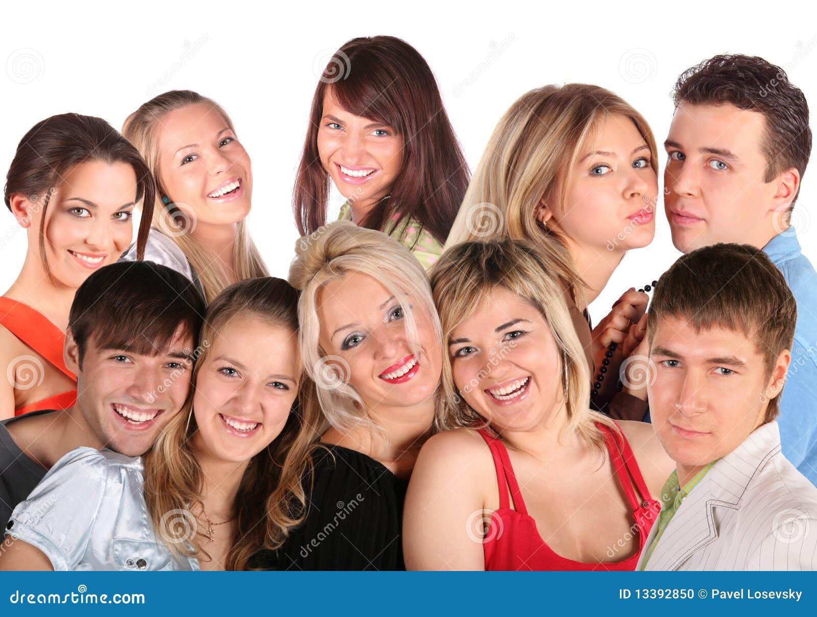 Vele gezichten jonge mensen, collage