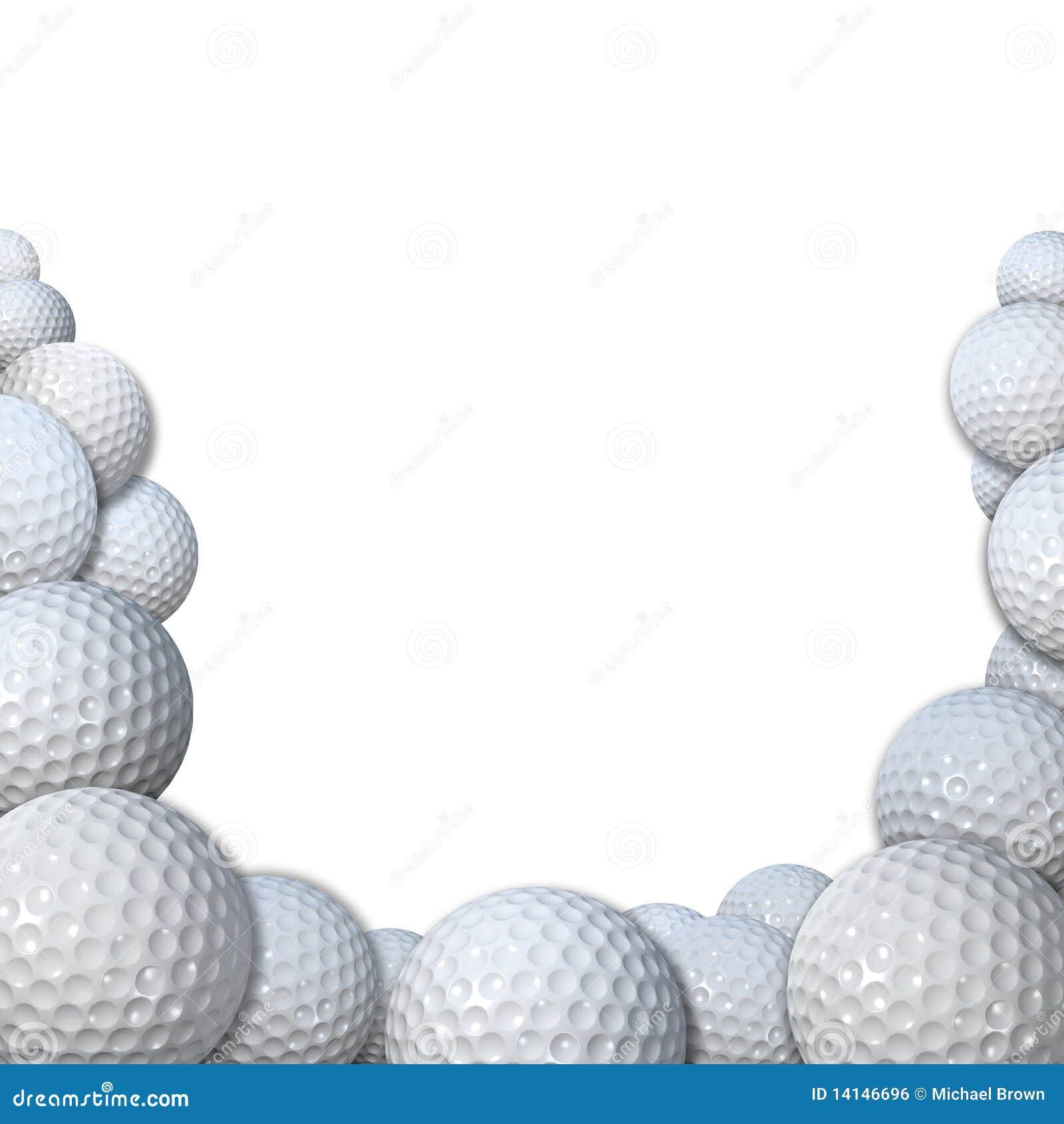 Vele Golfballs als het exemplaarruimte van de Grens van de Sporten van het Golf