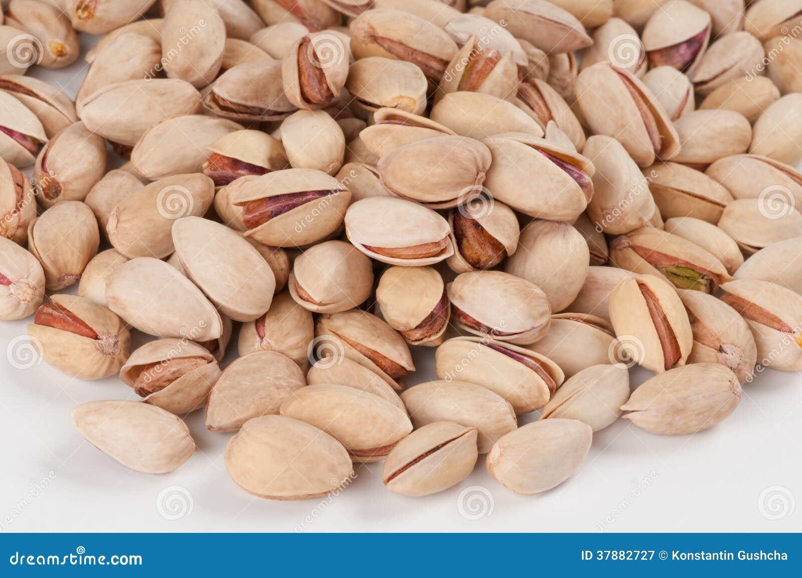 Vele natuurlijke pistaches