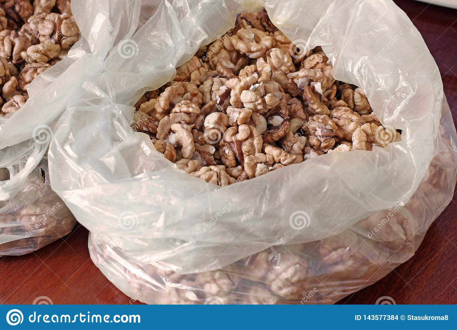 Vele Pitten van de Okkernoot Gepelde noten
