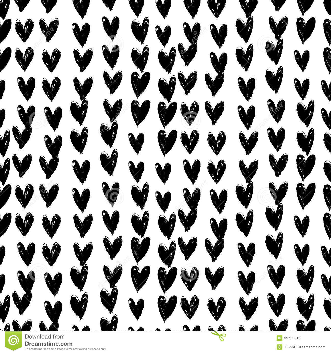 velentine s day pattern with hand painted hearts stock Swoosh Clip Art Vector Swirl