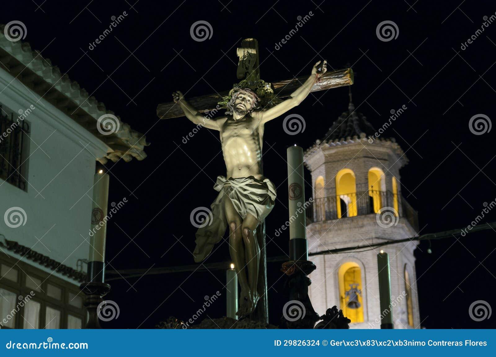 Procissão de Cristo del Perdon em Velez-Rubio