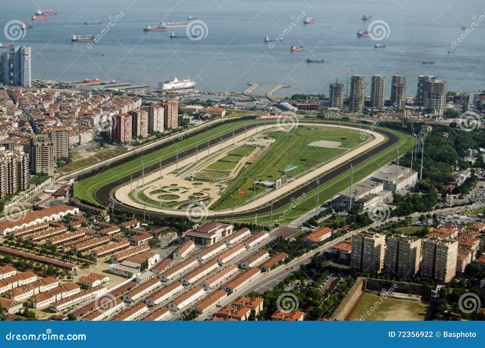 Veliefendi跑马场的鸟瞰图,伊斯坦布尔