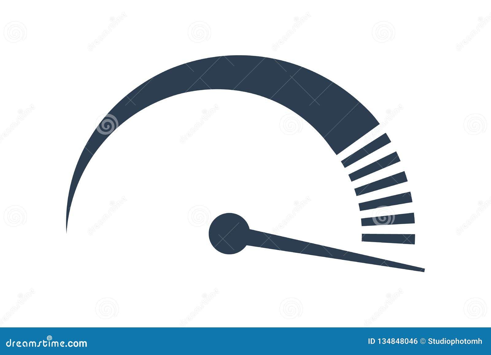 Velocímetro do vetor ícone da velocidade do Internet desempenho rápido