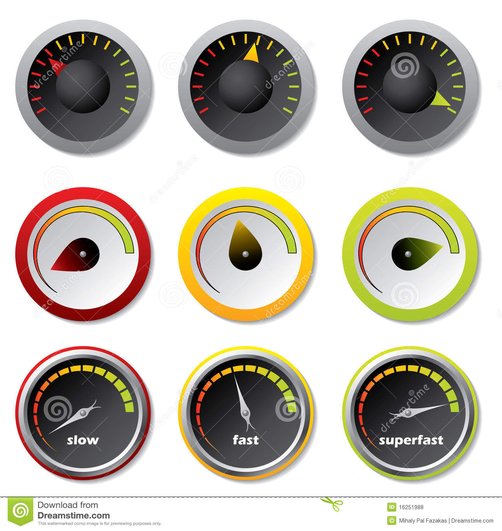 Velocímetros para downloads