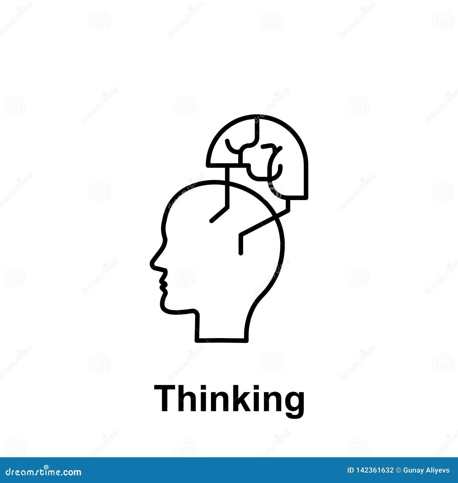 Velocemente, corridore, icona del cervello Elemento del nome creativo del witn dell icona del thinkin Linea sottile icona per pro