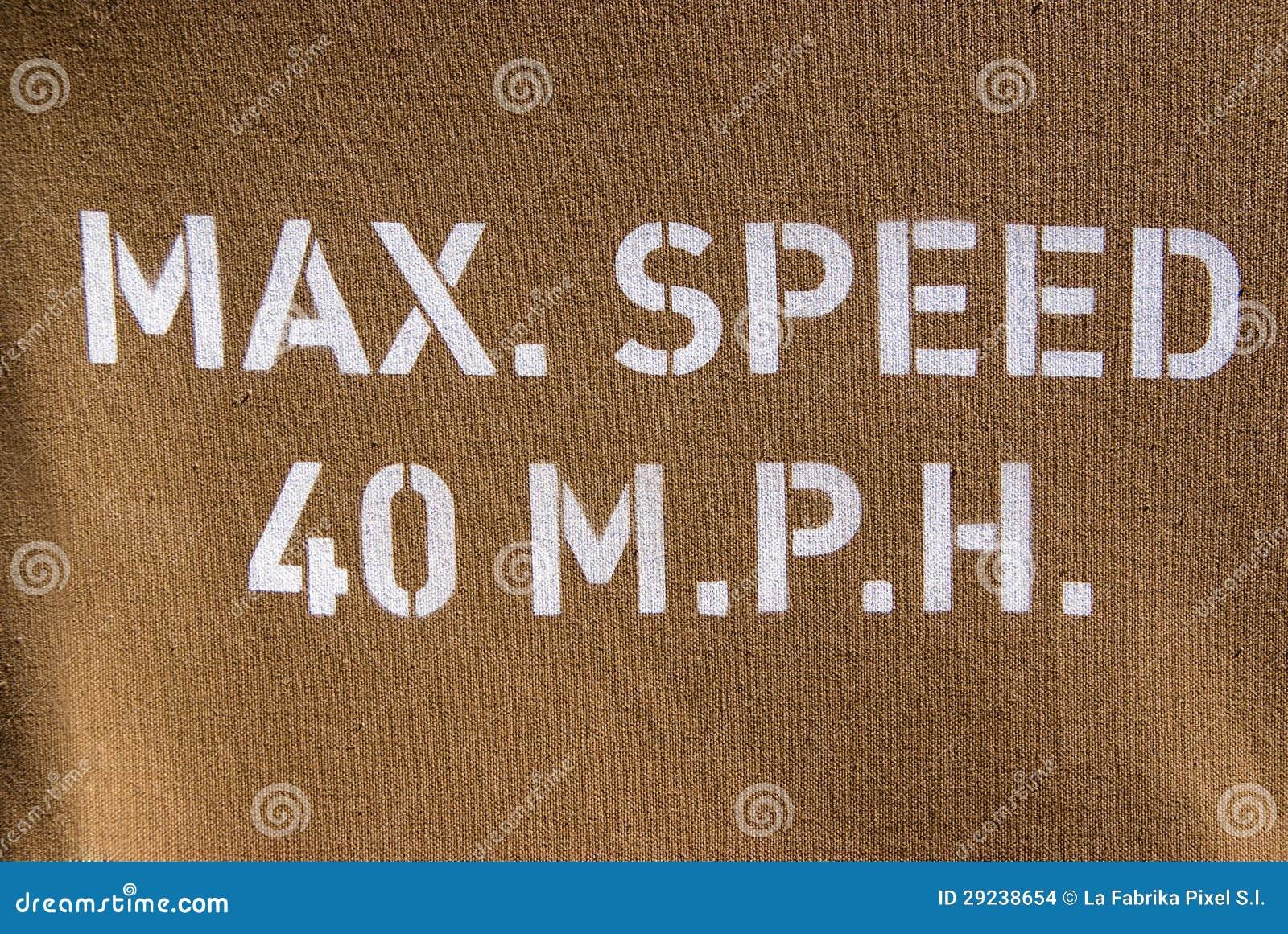 Download Velocidade Máxima 40 M.p.h. Foto de Stock - Imagem de veículo, verde: 29238654