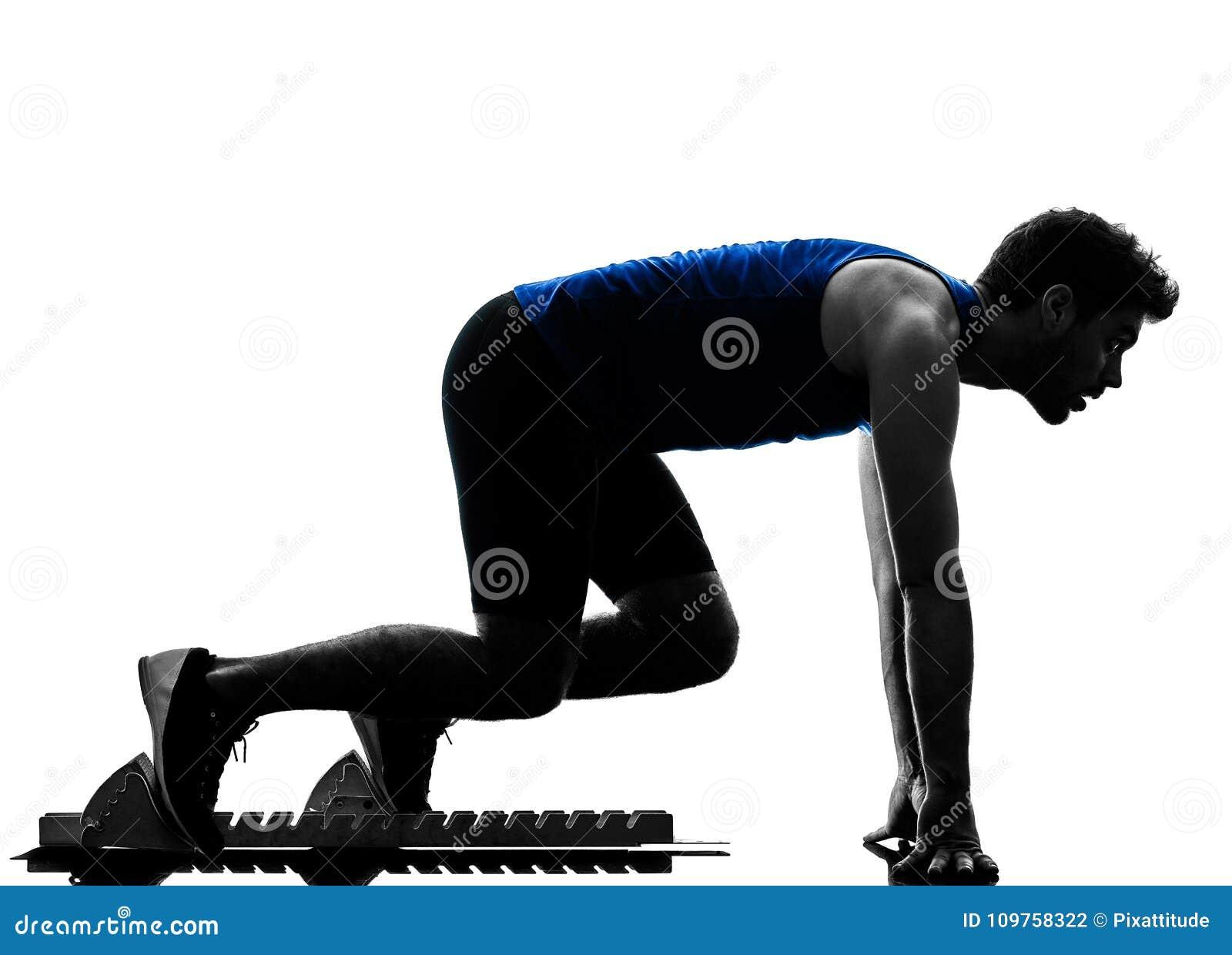 velocista do corredor que corre correndo o isola da silhueta do