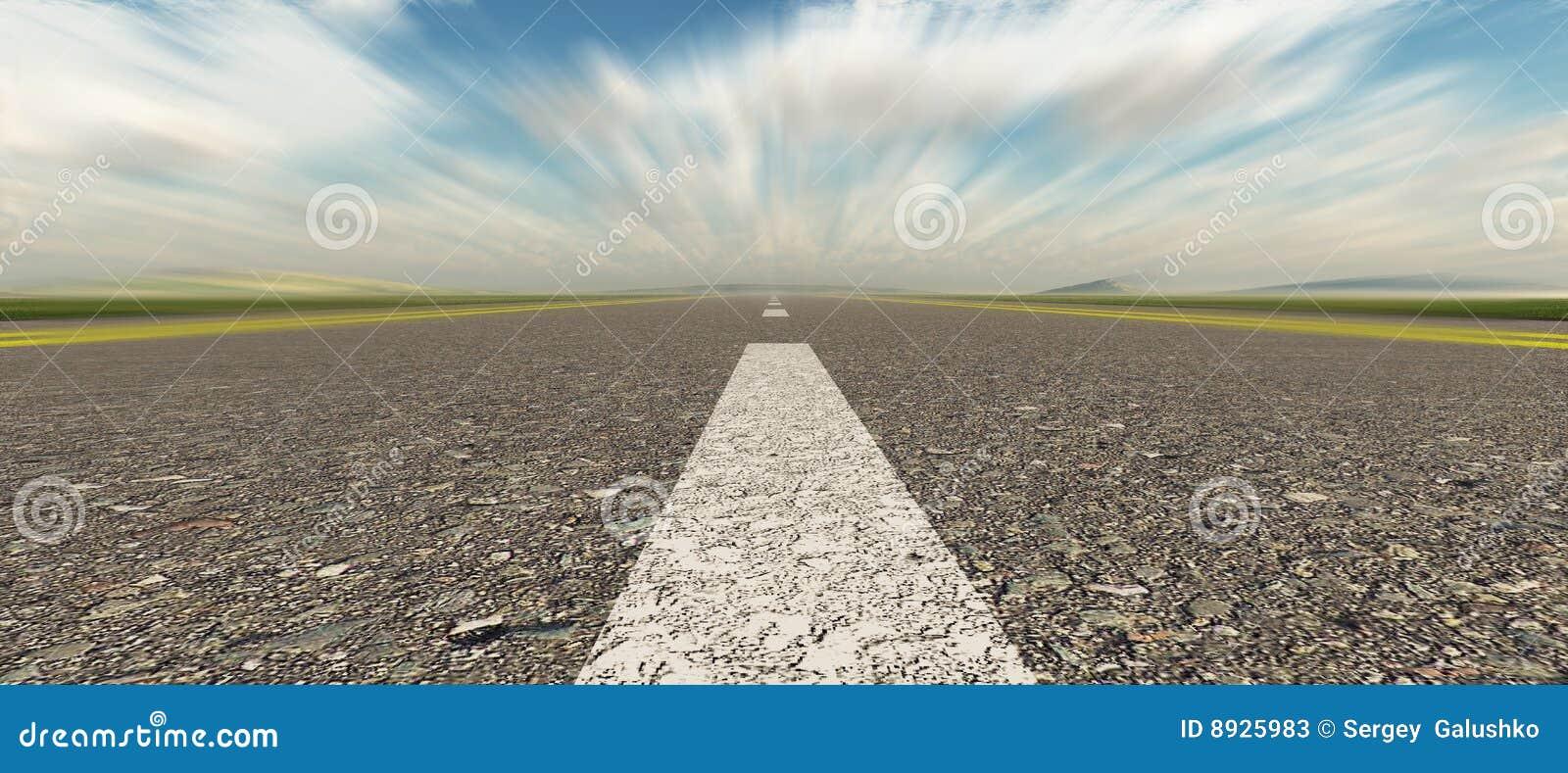Velocità della strada asfaltata panoramica